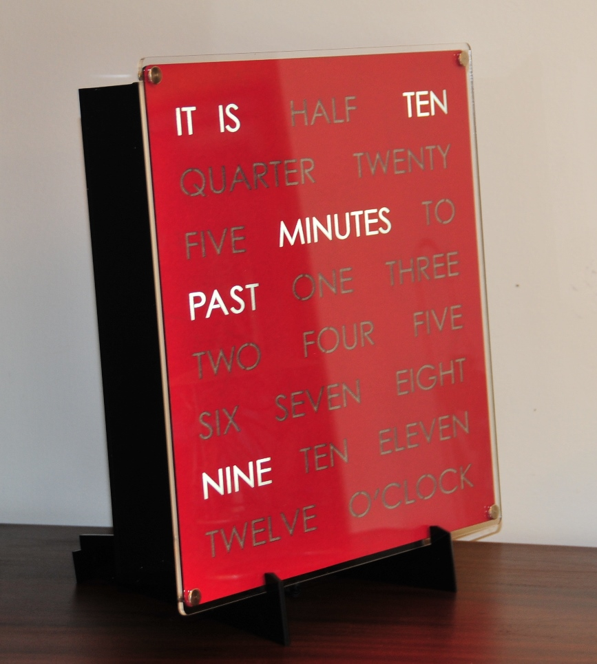 Awesome 30cm WordClock Idea