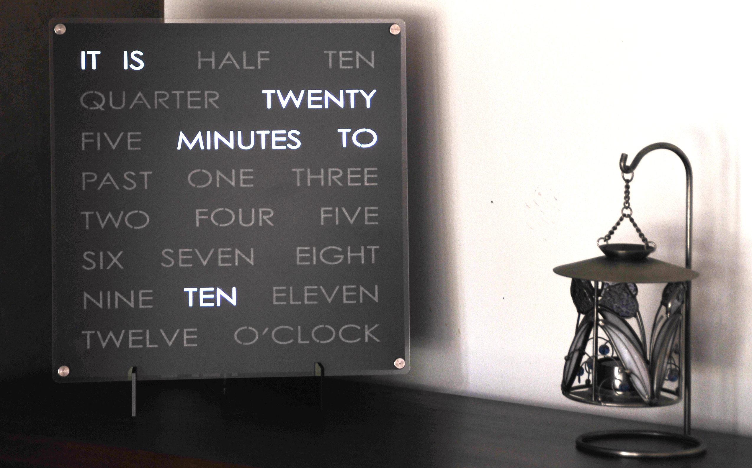 30cm Wordclock Dougs Word Clocks