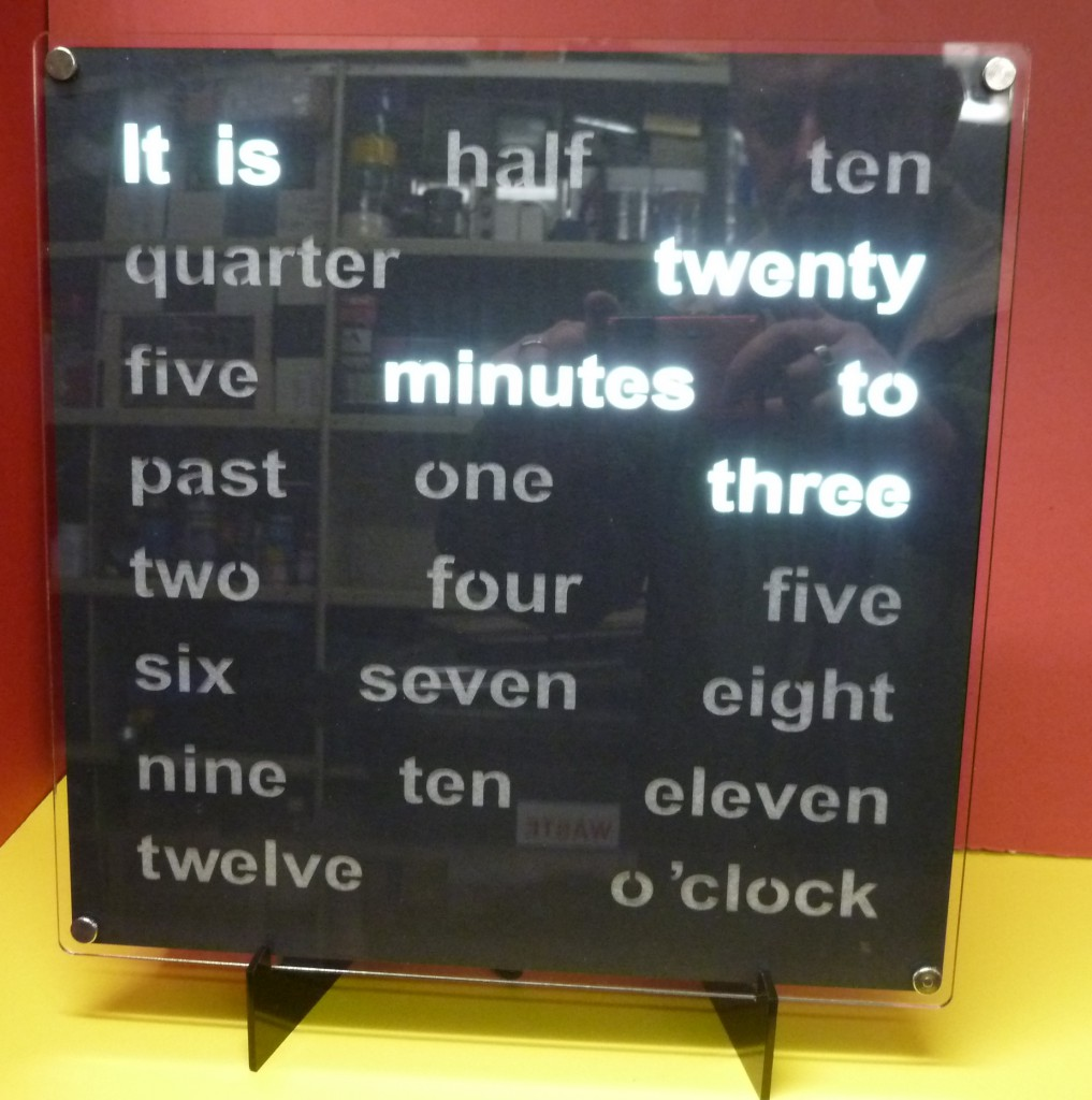 Front view of the 30cm Lower case clock.
